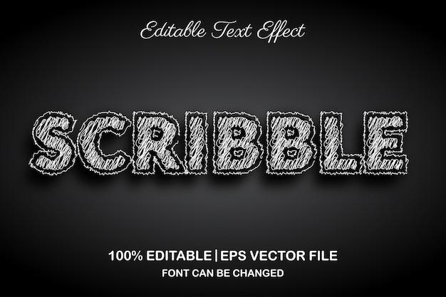 Efeito de texto editável rabisco em 3d