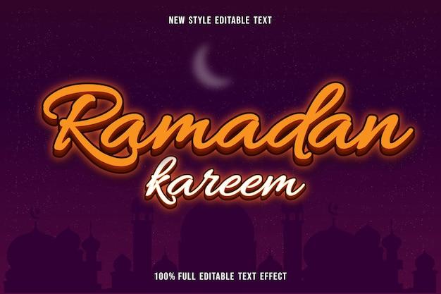 Efeito de texto editável ramadan kareem