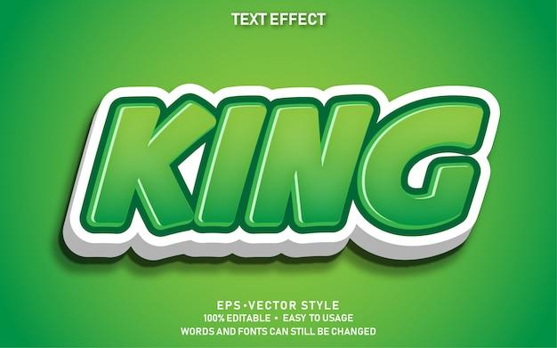 Efeito de texto editável rei fofo