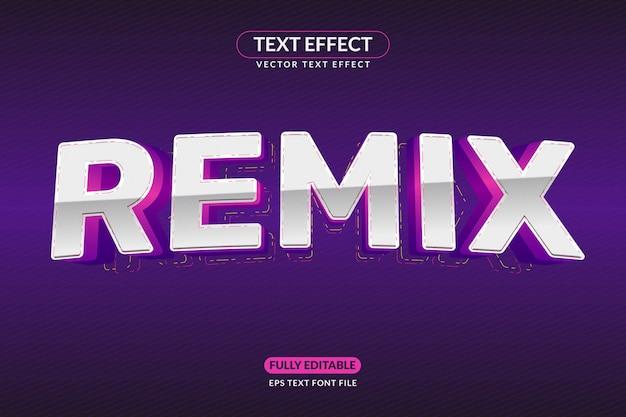 Efeito de texto editável remix disco jockey night club