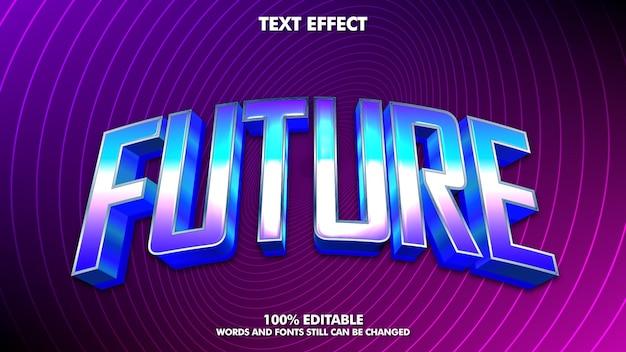 Efeito de texto editável retro moderno