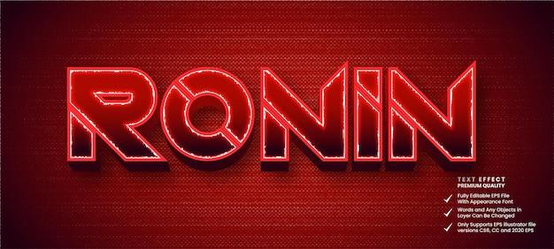 Efeito de texto editável ronin
