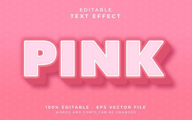 Efeito de texto editável rosa
