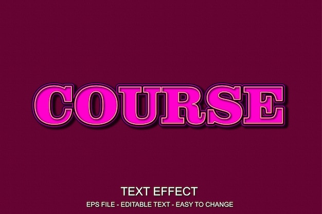 Efeito de texto editável roxo