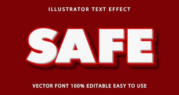 Efeito de texto editável seguro