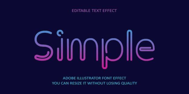 Efeito de texto editável simples
