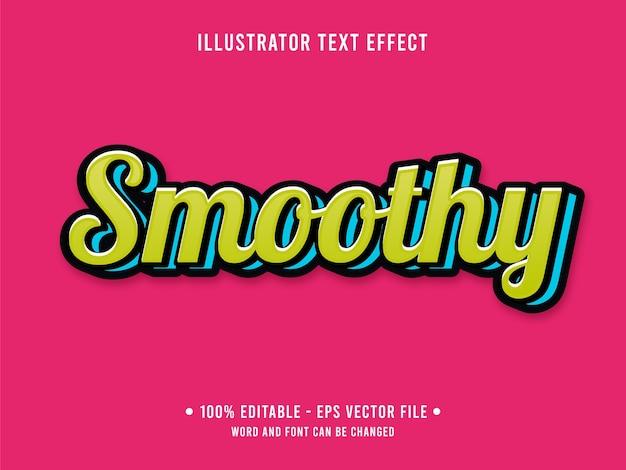Efeito de texto editável smoothy estilo simples 3d com cor verde