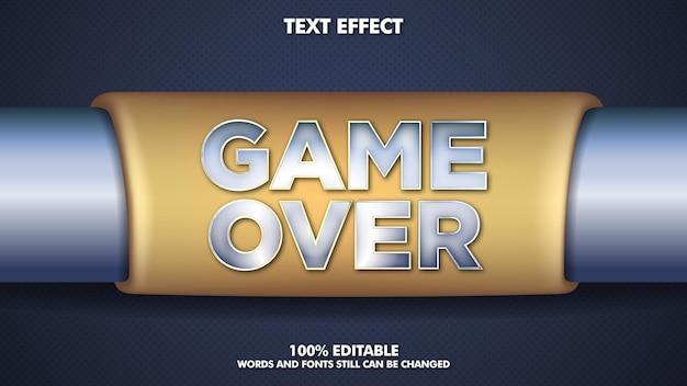 Efeito de texto editável sobre jogo