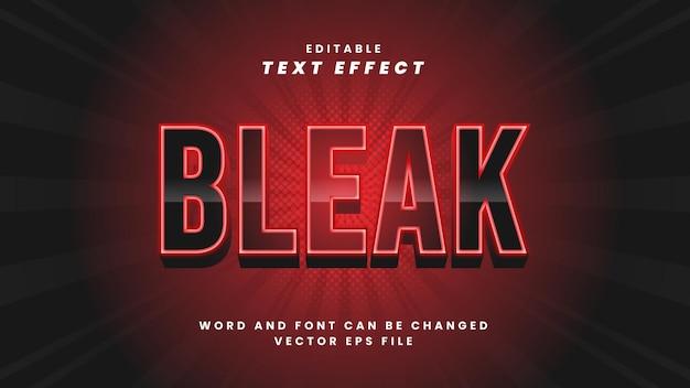 Efeito de texto editável sombrio