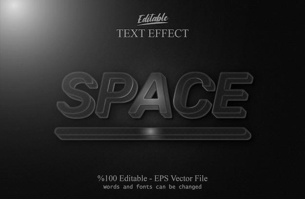 Efeito de texto editável space