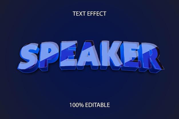Efeito de texto editável speaker style glass