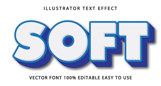 Efeito de texto editável suave