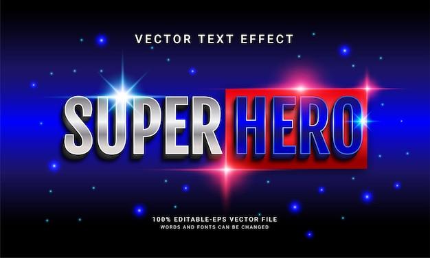 Efeito de texto editável super hero