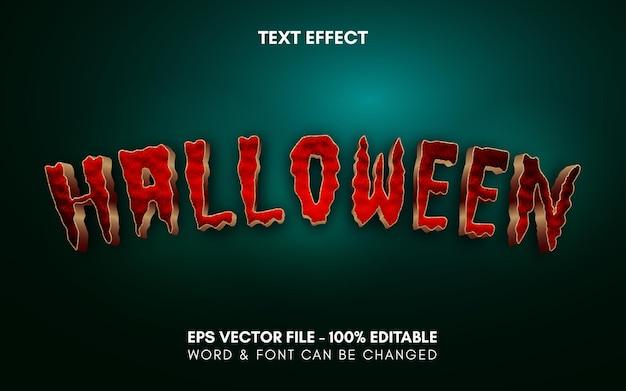 Efeito de texto editável tema estilo halloween