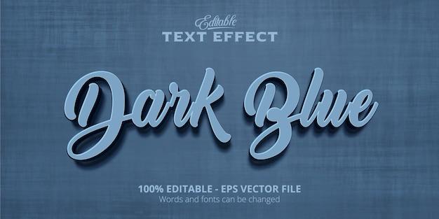 Efeito de texto editável, texto azul escuro