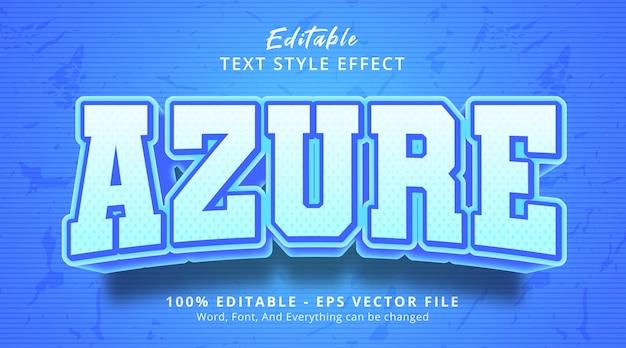 Efeito de texto editável, texto azure no estilo de pôster de título
