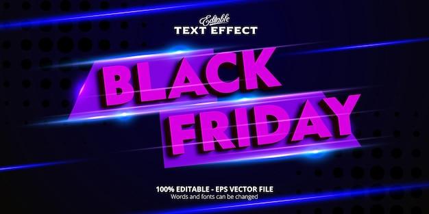 Efeito de texto editável, texto da black friday