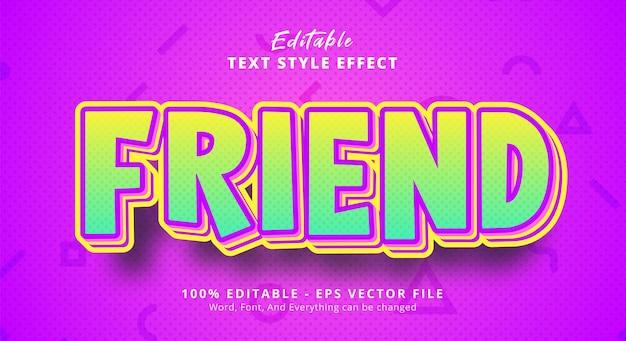 Efeito de texto editável, texto de amigo com estilo de combinação em camadas