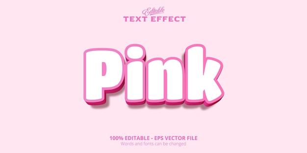 Efeito de texto editável, texto rosa