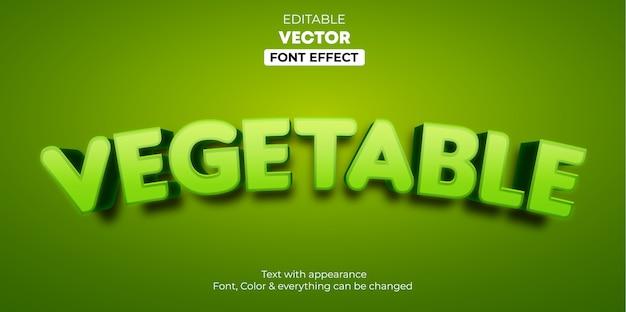 Efeito de texto editável vegetal