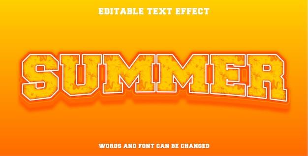 Efeito de texto editável verão