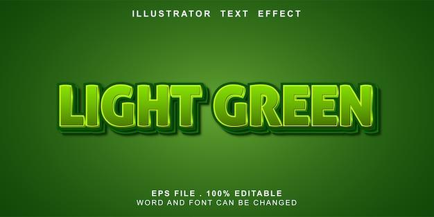 Efeito de texto editável verde claro