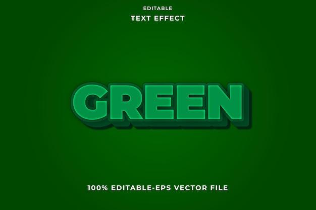 Efeito de texto editável verde simples