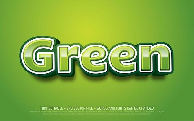 Efeito de texto editável verde