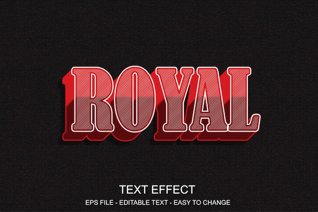 Efeito de texto editável vermelho estilo pop art