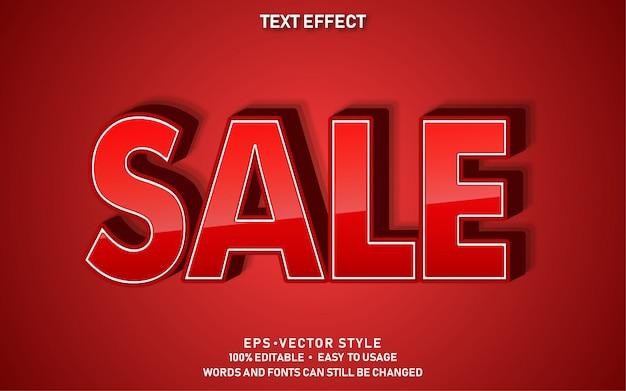 Efeito de texto editável vermelho venda
