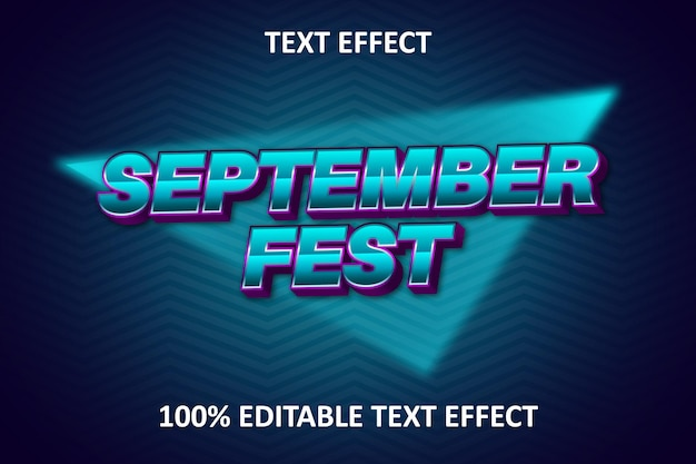 Efeito de texto editável vintage azul e roxo