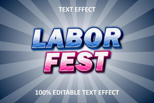 Efeito de texto editável vintage azul rosa prata