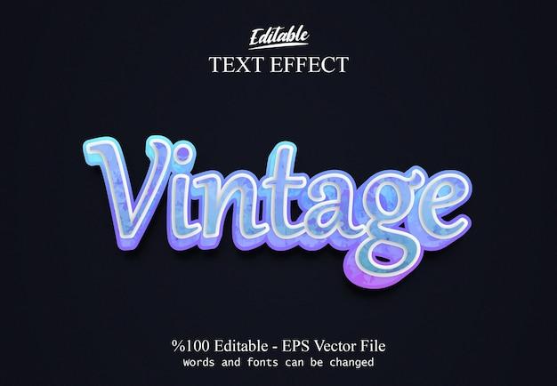 Efeito de texto editável vintage vecto