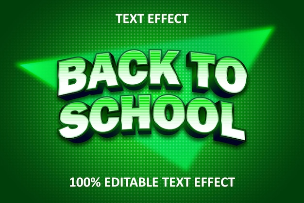 Efeito de texto editável vintage verde