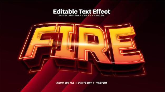 Efeito de texto editável waving fire