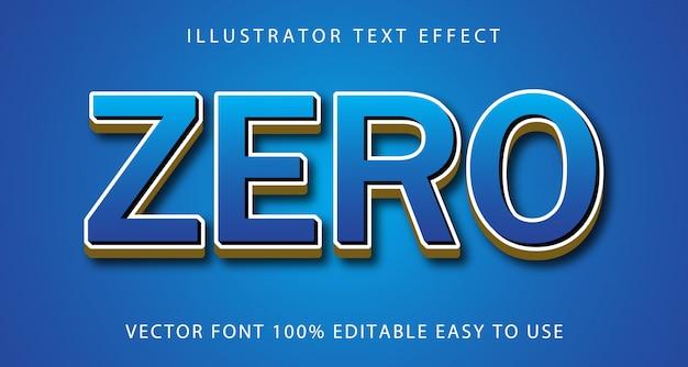 Efeito de texto editável zero