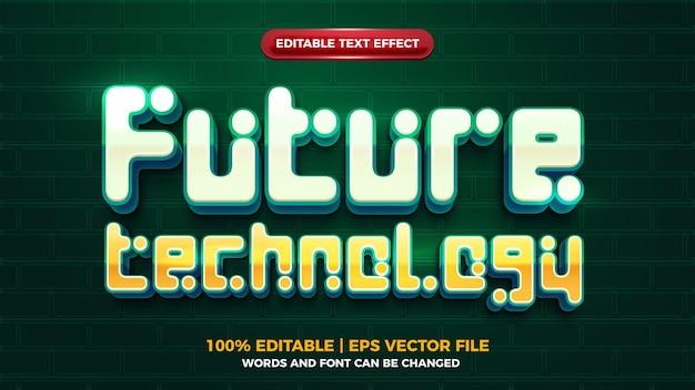 Efeito de texto editbale da tecnologia do futuro