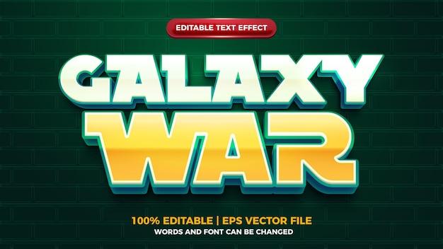Efeito de texto editbale do futuro da guerra da galáxia