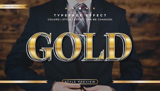 Efeito de texto elegante em ouro