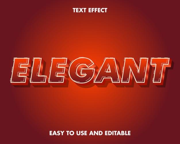 Efeito de texto elegante. estilo de fonte editável.