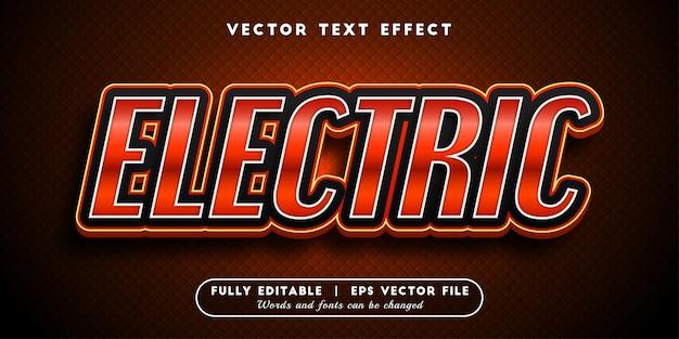 Efeito de texto elétrico com estilo de texto editável