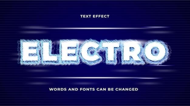 Efeito de texto eletro relâmpago eps editável em cc
