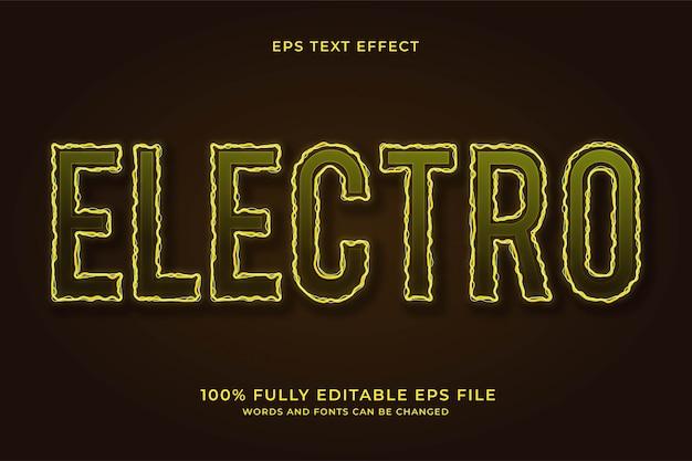 Efeito de texto eletro