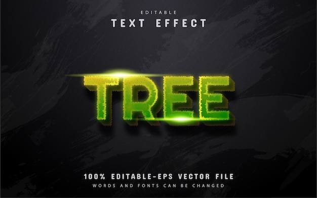 Efeito de texto em árvore