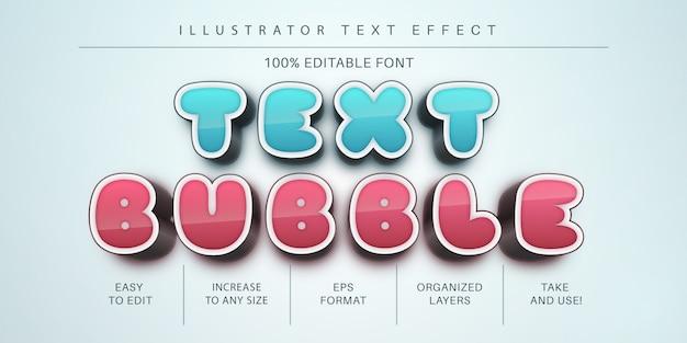 Efeito de texto em bolha, estilo de fonte