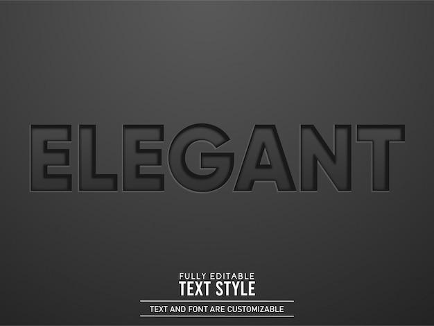 Efeito de texto em couro preto gravado elegante