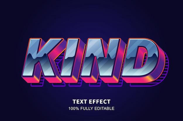 Efeito de texto em estilo antigo em negrito forte dos anos 80, texto editável