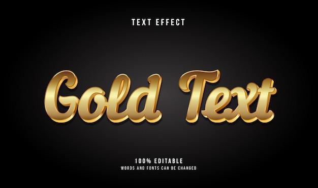 Efeito de texto em estilo moderno 3d em ouro