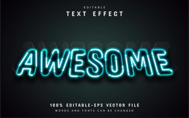 Efeito de texto em estilo neon incrível