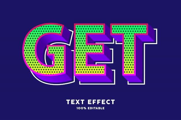 Efeito de texto em estilo pop 3d